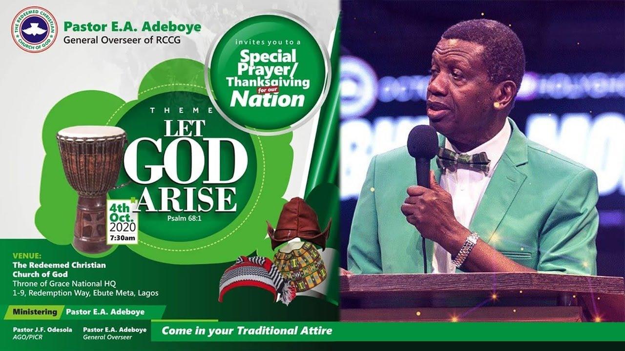 RCCG Sunday Service 4th October 2020 by Pastor E. A. Adeboye - Livestream
