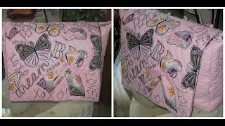 DIY Quilted | Embellished |  Messenger Bag Tutorial W/ Angela Boone