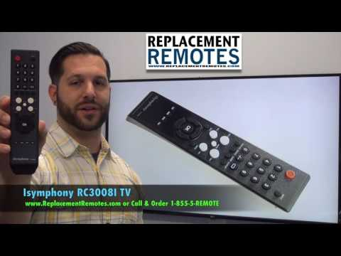 iSymphony RC3008I TV Remote Control