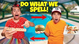 I'LL DO WHATEVER YOU CAN SPELL CHALLENGE!!! Our Kids Swap Lives!