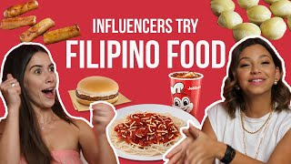 ABU DHABI INFLUENCERS TRY FILIPINO FOOD By THE SKWAD