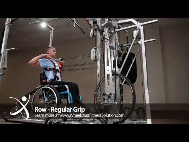Wheelchair Fitness Solution | Exercise: Row – Regular Grip (22 of 40)
