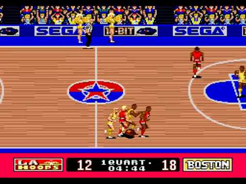 Pat Riley Basketball (Sega Genesis) Demo Gameplay 1/2