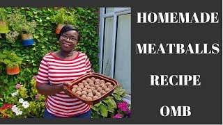 HOMEMADE MEATBALLS RECIPE: Cooking In The Garden With Mama Betty: EP 7