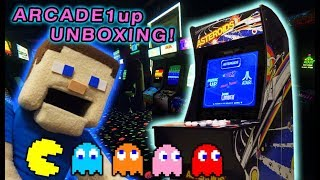 ARCADE Video Games!! NEW ARCADE1UP Atari Cabinet UNBOXING! Classic TEMPEST Pac man Asteroids
