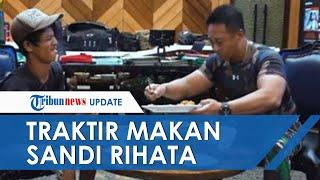 POPULER: Momen Haru Jenderal Andika Perkasa Traktir Makan Kuli Bangunan Penyandang Disabilitas