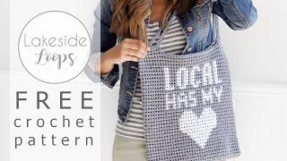 Local Has My Heart Market Bag FREE Crochet Pattern Video Tutorial