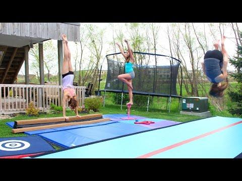 Home Gymnastics Equipment and Tumbling!