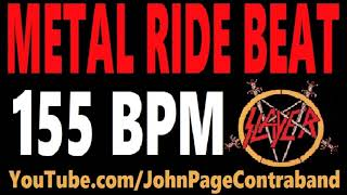 Metal Ride Beat 155 bpm Slayer Style Drums Only Track Loop