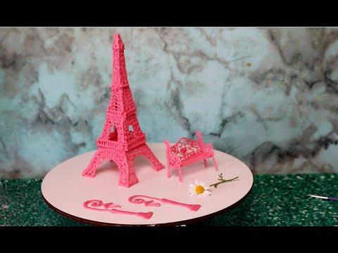Как сделать шоколадный декор Эйфелевой башни