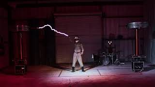 Daft Punks Derezzed Performed With Musical Tesla Coils.