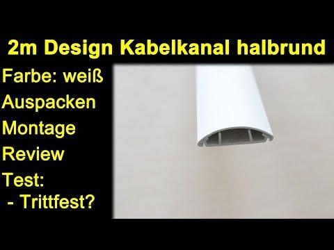 MK-Elektronik 2m Design Kabelkanal halbrund weiß - Auspacken Montage Test Review Trittfestigkeit