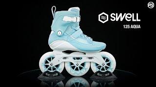 Inlines Powerslide Swell aqua 125 - white / light blue - 3x125mm