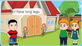 สื่อการเรียนการสอน I have long legs ป.2 ภาษาอังกฤษ