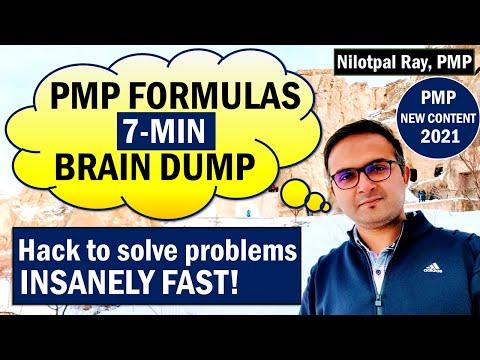 How to create PMP FORMULAS BRAIN DUMP | PMP Cheat Sheet ...
