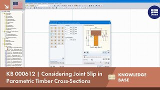 KB 000612 | Considering the Joint Slip in Parametric Timber Cross-Sections
