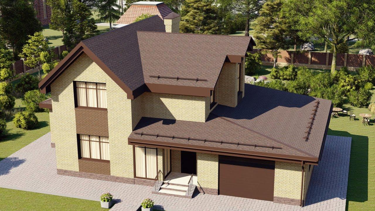 Проект дома 211-A, Площадь дома: 211 м2, Размер дома:  18,2x10,1 м