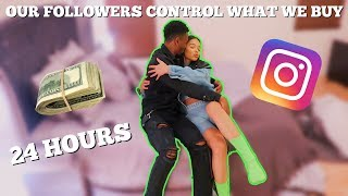 WE LET OUR INSTAGRAM FOLLOWERS CONTROL WHAT WE BUY FOR 24 HOURS