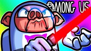 Among Us Funny Moments - Battling the Dark Side! (Lightsaber Mod)