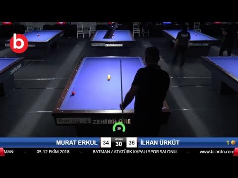 MURAT ERKUL & İLHAN ÜRKÜT Bilardo Maçı - 2018 ERKEKLER 3.ETAP-4.TUR