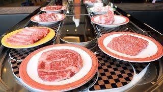 회전초밥처럼 먹는 회전고깃집 / a variety of rotating meats & beef noodle / korean food