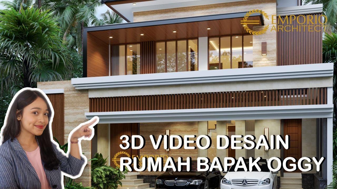 Video 3D Mr. Oggy Modern House 2 Floors Design - Yogyakarta