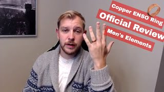 2018 NEW Official Guy Reviews! -COPPER ENSO Wedding Band/Ring (Mens COPPER Classic Elements)