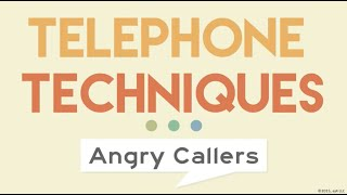 Telephone Techniques: Handling Angry Callers - ej4 Customer Service Training Video