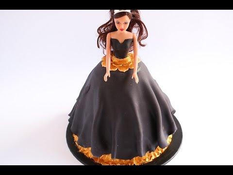 Video Simple Vintage Fondant Doll Cake- Rosie's Dessert Spot