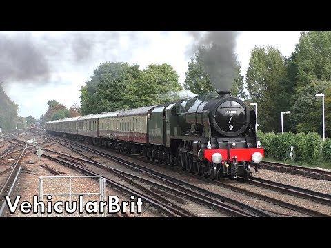 46100 'Royal Scot' with 'The Belmond British Pullman' at Wok…
