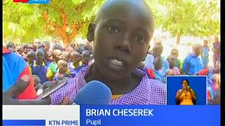 Hundreds of children rave scotching sun protesting heighten insecurity in Kerio Valley