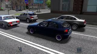 City Car Driving - катаемся по городу на Daewoo Lanos