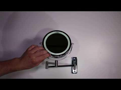 LED Schminkspiegel Make up Spiegel Kosmetikspiegel Beleuchtung 10-fach 405261 | Steelboxx