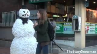 Испуги снеговиком Ржачь!