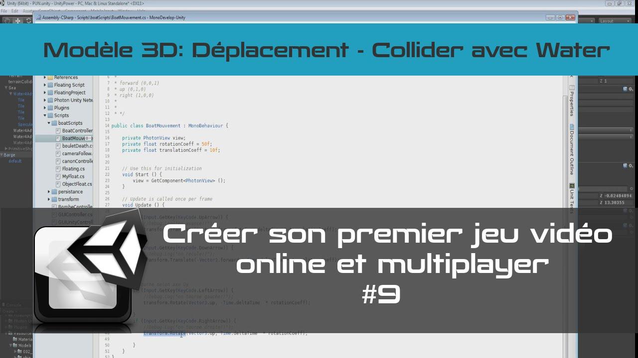 [TUTO Unity 3D FR] Unity 5 - Créer un jeu vidéo online et multiplayer #9- Movement
