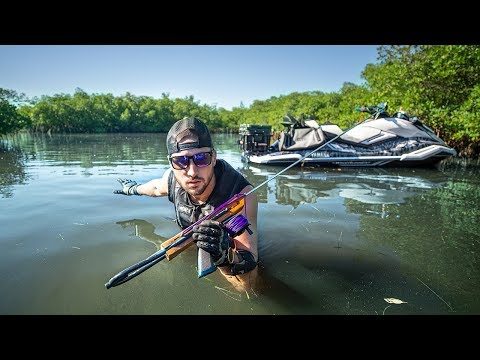 Spearfishing With Primitive Tools CHALLENGE!! (extremely hard)