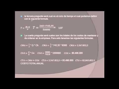 Simulación modelo de inventarios