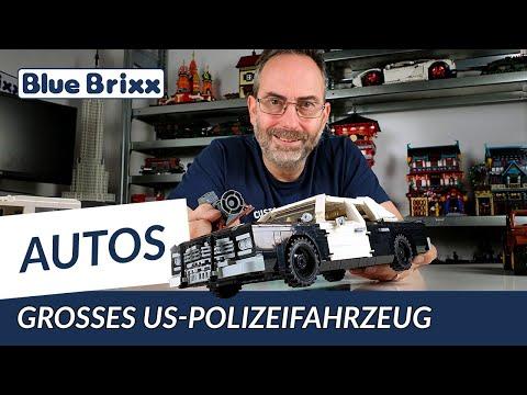 Großes US-Polizeifahrzeug