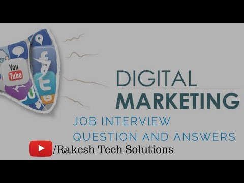 Job digital marketing interview question and answers 2018