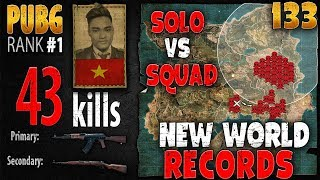 [Eng Sub] PUBG Rank 1 - Rip113 - 43 kills [AS] Solo vs Squad - PLAYERUNKNOWN