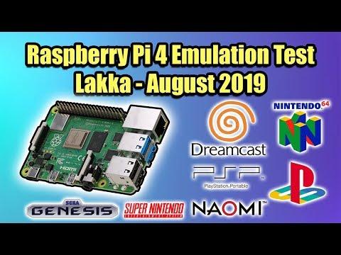 Raspberry Pi 4 Emulation Test Lakka N64 Dreamcast Psp Amp More August 2019