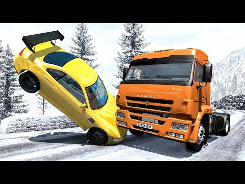 Realistic High Speed Crashes #49 - BeamNG Drive | CrashBoomPunk