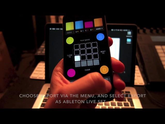Triqtraq App Tutorial: Ableton Live Set Export