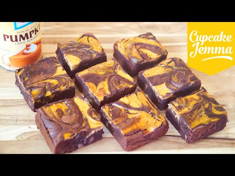Pumpkin Cheesecake Brownie Recipe | Cupcake Jemma