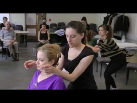 seated massage techniques demonstration - YouTube