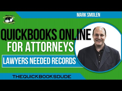QuickBooks Online For Attorneys Needed Law Firm Records