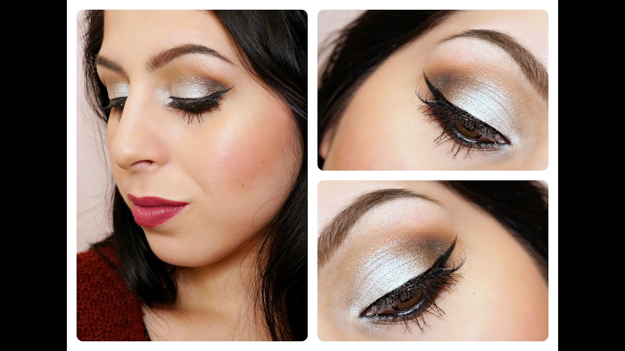 Holiday Glam Tutorial – Silver Eyes & Berry Lips (Blogmas Day 21)
