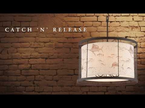 Video for Catch N Release Angler Bronze One Light Mini Pendant