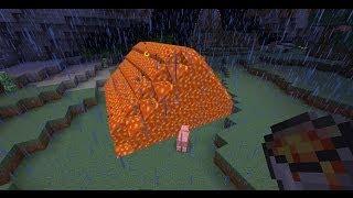 Смотреть онлайн Строим уникальный дом из лавы в Майнкрафт