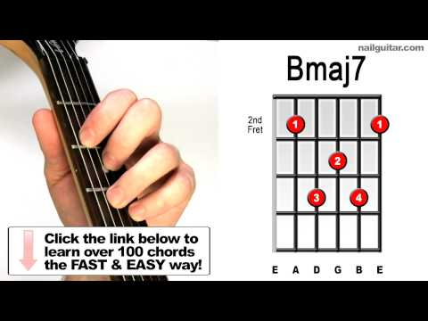 Bmaj7 Guitar Chord Lesson